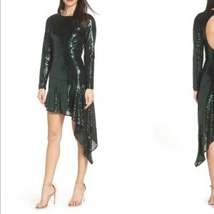 NEW • Bronx and Banco • Suzanna Sequin Dress Green